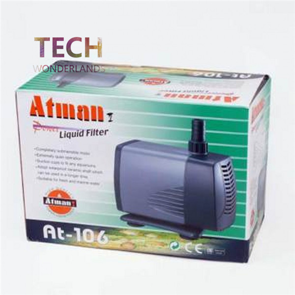 Atman aquarium at 106 at 106 ultra silent submersible pump for Fish tank water pump