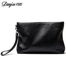Natural genuine leather men clutches Bag real cowhide Mens Long Wallet business men bags fashion solid Wallet With Zipper Purses
