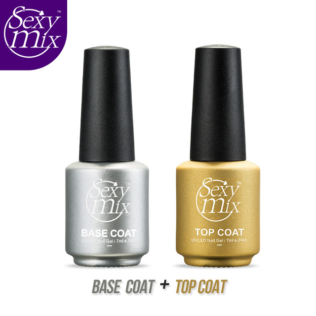 Sexy mix Diament Nail Gel Top Coat dodatek + Base Coat Fundacja na Żel UV Polski bestsellery 7 ml