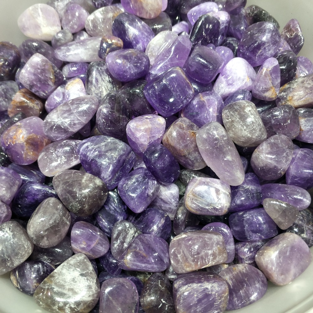 1000g cristal violet naturel traitement poli quartz pierre gravier comme décoration d'aquarium décoration de mariage aquarium - 3