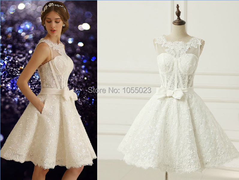 Vestidos 2015 New Arrival Tulle Cap Sleeves Back Lace Up