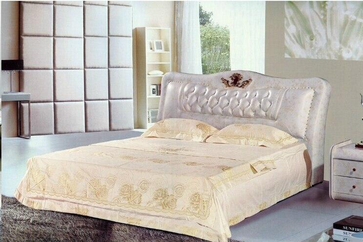 Prix d'usine de haute qualité en cuir grande royale king size meubles de mariage doux de chambre à coucher lit douillet 1686