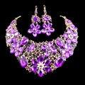Últimas africano sistemas de la joyería de perlas para las mujeres de la boda chapado en oro rojo collar y pendientes jiayijiaduo seis colores envío libre