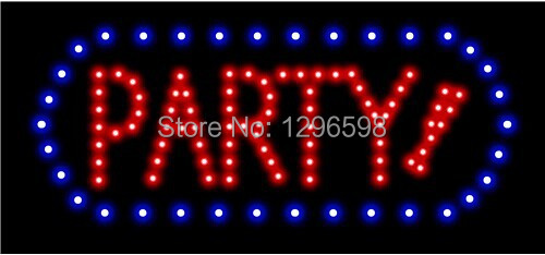 2017 hot sale custom 10x19 Inch Semi-outdoor Ultra Bright running birthday party led sign
