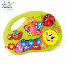 Huile игрушки 927 Игрушки для малышей Обучающая машина игрушка с огнями и музыкой и обучения истории Игрушечный музыкальный инструмент для малышей 6 месяцев +