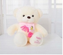 small cute teddy bear toy pink scraf bear toy lovely bear toy gift doll about 30cm