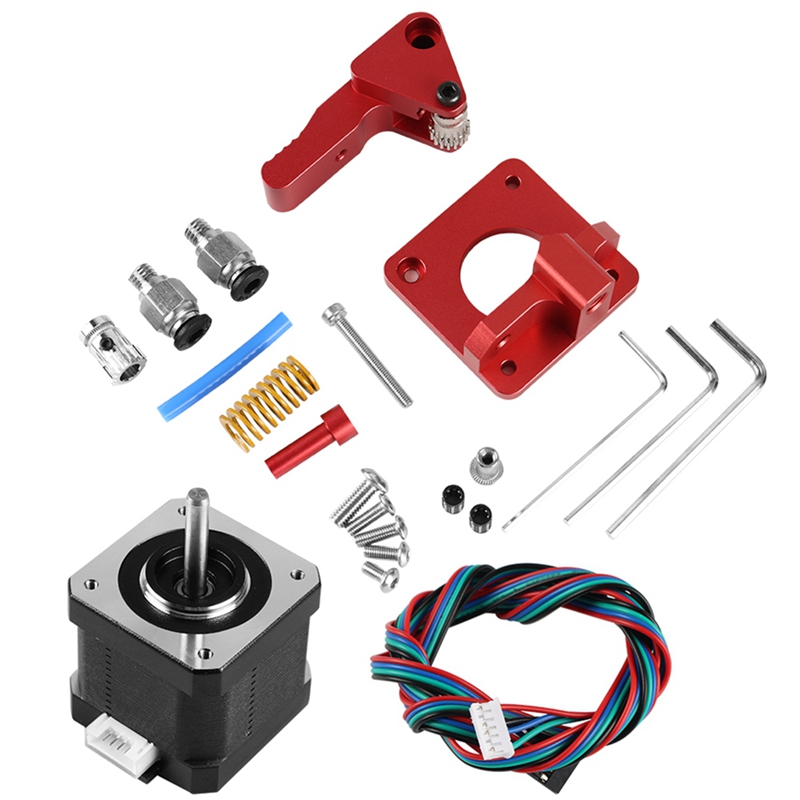 Btech Dual Drive Extruder With Motor For Cr 10/Cr 10S/Tornado 3D Printer Upgrade Aluminum Dual Gear Left Hand Dual Extruder(Le-in 3D Printer Parts & Accessories from Computer & Office