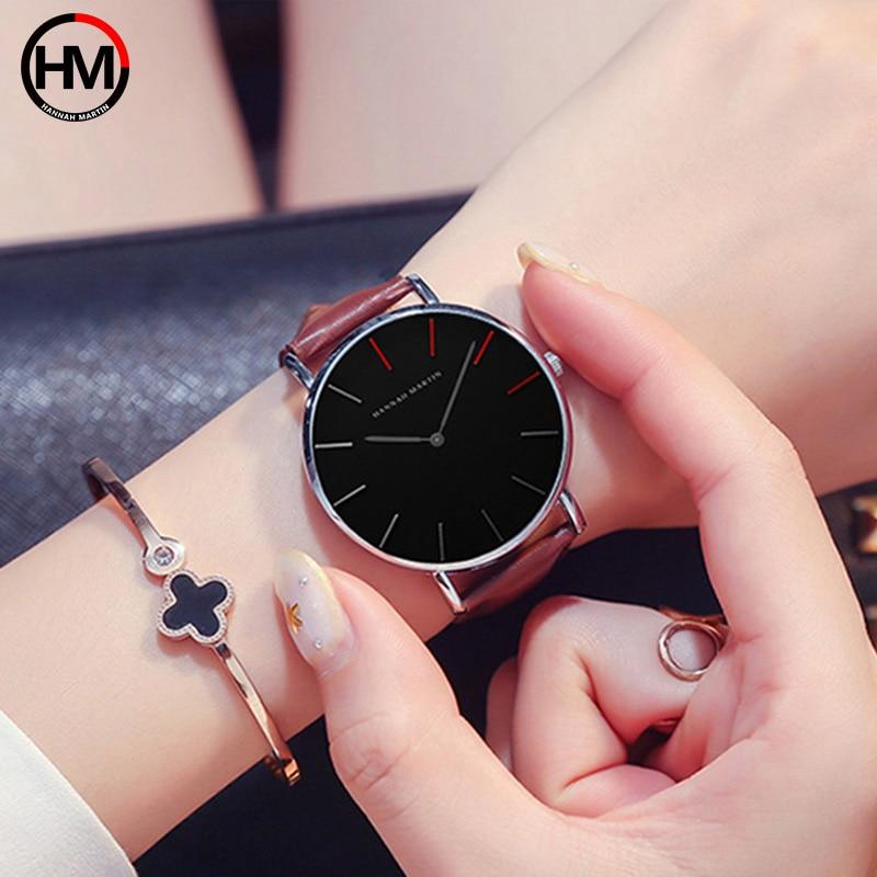 Marca Japón Quartz Men Women Relojes de pulsera de lujo Ultra Thin - Relojes para hombres - foto 4