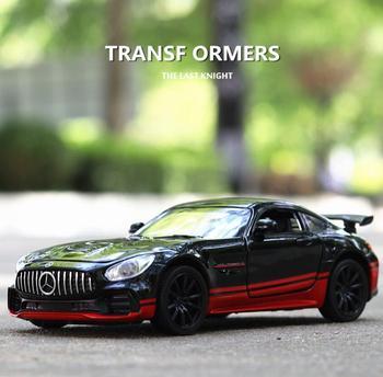1:32 سيارات لعبة بنز AMG GTR المعادن لعبة سبيكة سيارة Diecasts & لعبة السيارات نموذج سيارة مصغرة مقياس نموذج سيارة لعبة للأطفال