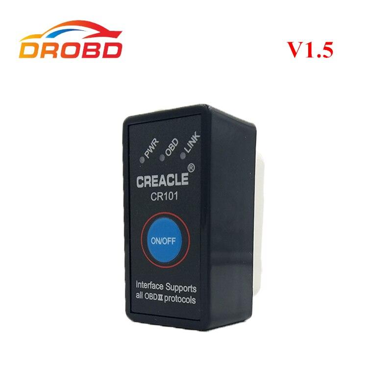 Auto Herramienta de Diagnóstico Mini ELM327 V1.5 con Interruptor de Soporte Completo protocolo Mini ELM327 ELM 327 Bluetooth V 1.5 OBD-II OBD2 escáner