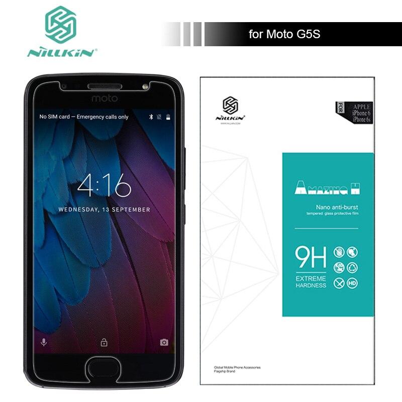 Для Moto G5S Nillkin закаленное Стекло Экран протектор 9 H жесткий против царапин 0.33 мм для Motorola Moto G5S супер тонкий Стекло