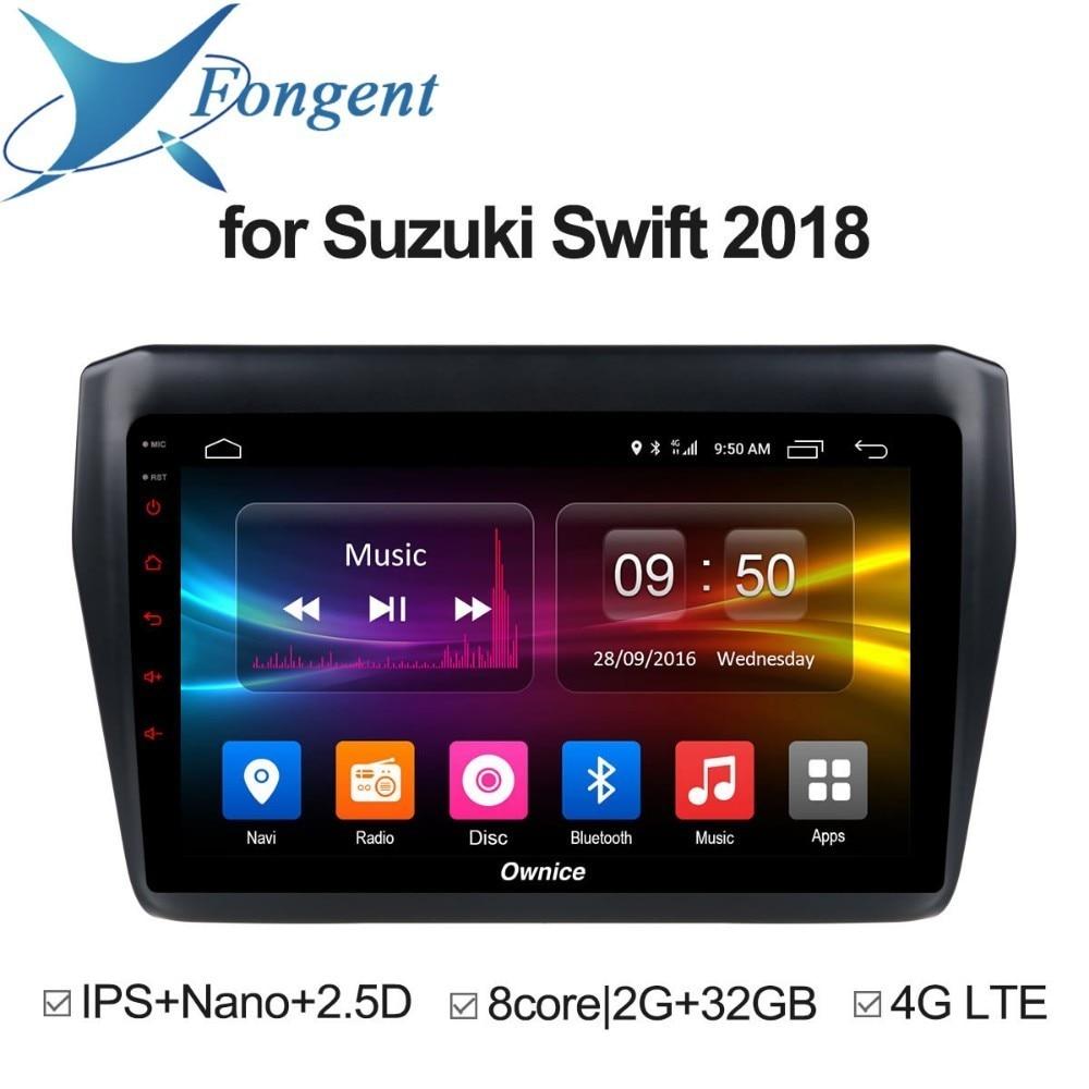 Pour Suzuki Swift 2018 Android unité voiture dvd Radio multimédia système informatique stéréo gps navigateur audio vidéo lecteur fai écran