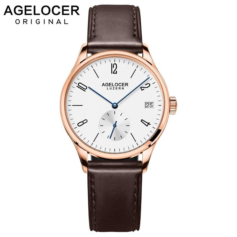AGELOCER известный швейцарский бренд женское платье часы женские роскошные повседневные золотые автоматические часы Relogio Feminino женские часы