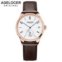 AGELOCER Famous Swiss Brand font b Women b font Dress Watches Ladies Luxury Casual Gold Automatic