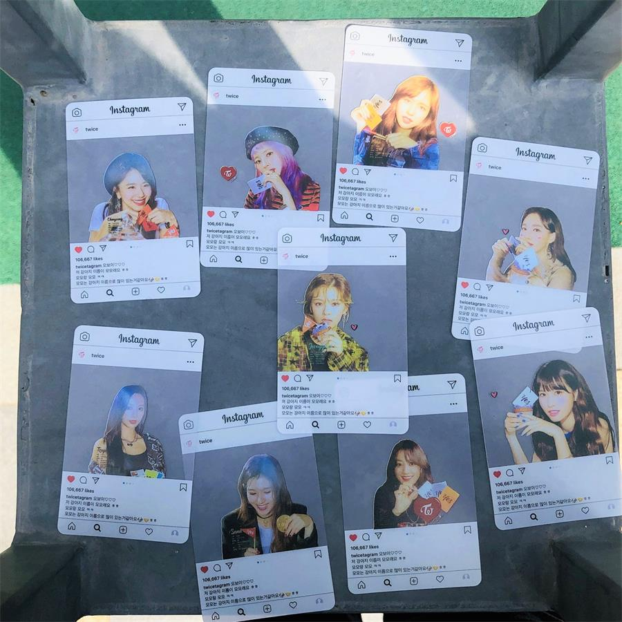 Kpop Twice Yes or Yes PVC Clear Photo Card Instagram Momo Mina HD  Collective Photocard 9pcs
