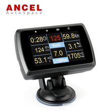 New Ancel A501 Car OBD OBD2 Gauge with Holder Driving Speed Meter Fuel Consumption Water Temperature Digital Display PK A202 X50