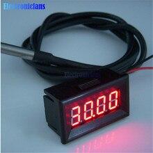 0,36 дюймов Красный светодиодный цифровой термометр для автомобиля, измеритель температуры DS18B20 датчик