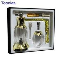 2pcs/set Elegant Gift Box Mini Glass Hookah Bowl Metal Cigarette Enhance Filter for Smok Lover Tobacco Smoking Pipe Shisha Hose
