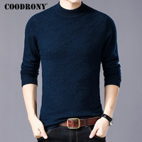 COODRONY Merino Wool Sweater Men Turtleneck Sweaters 2018 New Winter Thick Warm Pull Homme Casual Soft Cashmere Pullover Men W11