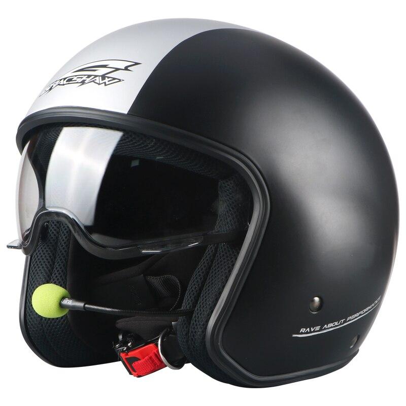 Gracshaw Bluetooth motorcross helmet ABS font b motorbike b font helmet open face 3 4 motorcycle