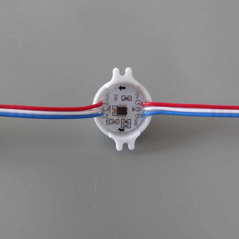 100 шт. DC12V диаметр 30 мм ws2811IC 5050SMD 3 светодиода RGB светодиодный цифровой светодиодный пиксель точечный источник света модуль водонепроницаемый IP68 по служба доставки fedex express