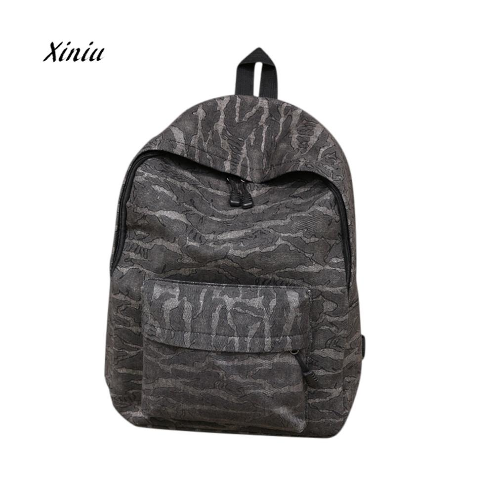 Unisex Canvas Backpacks High Qaulity Camouflage Casual Travel Satchel Shoulder Backpack School Travel Backpack