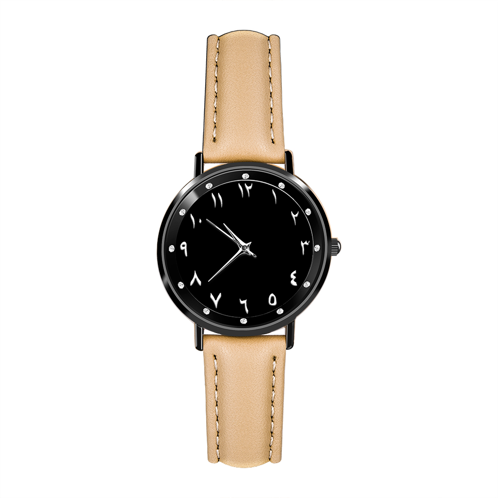 Watches Women Reloj Hombre Numeros Arabe. Genuine Leather Watch Band. Japanese Quartz Watch Movement