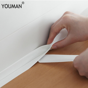 Wallpapers diy Self Adhesive Wallpaper PVC Waterproof Kitchen Bathroom Crevice Strip Wall Sealing Tape Wall Sticker Sealant Tape 1