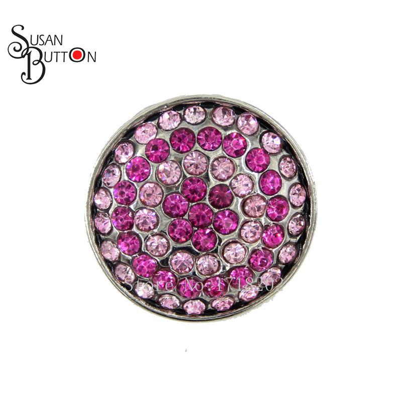 Snap Interchangeable Rhinestone Susan Button Charm 18mm Crystal Snaps  Ginger Charms for bracelet jewelry SJSB1344 bee8eaf0699c
