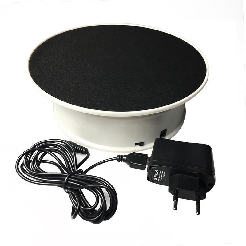 20cm 360 Degree Electric Rotating Turntable Display Stand For Photography Jewelry Model Show Load 1.5kg Video Shooting Battery