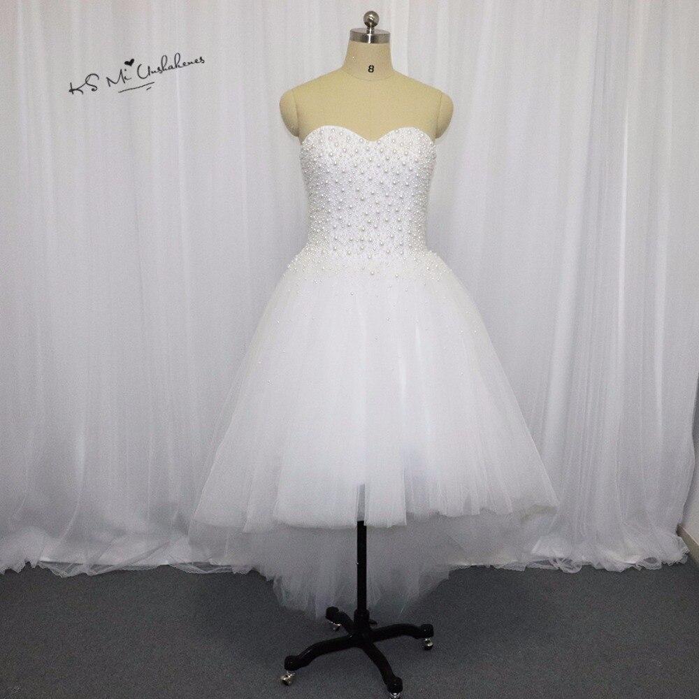 Summer Vintage Wedding Dresses: Summer Vintage Beach High Low Wedding Dresses Short Front