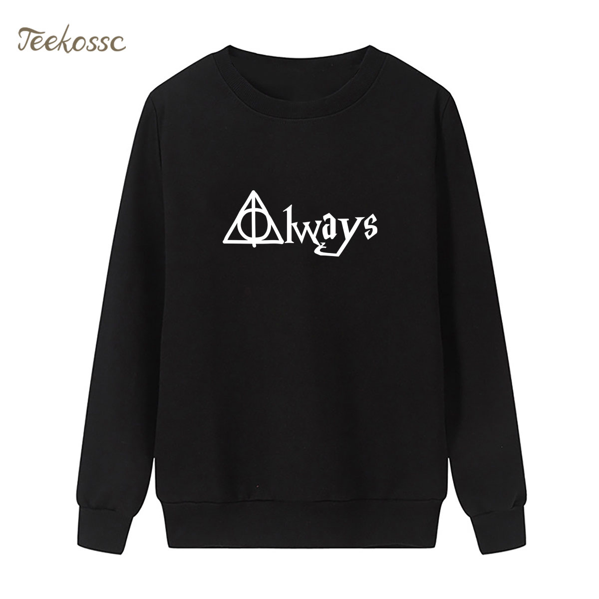 Hogwarts Sweatshirt Magic Print Hoodie 2018 Brand Winter Autumn Women Lasdies Pullover Loose Fleece Streetwear Muggle Sportswear