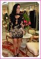 Black Beaded Appliques Cocktail Dresses 2017 New Sheath Short Sheer Back Noble Celebrity Dresses