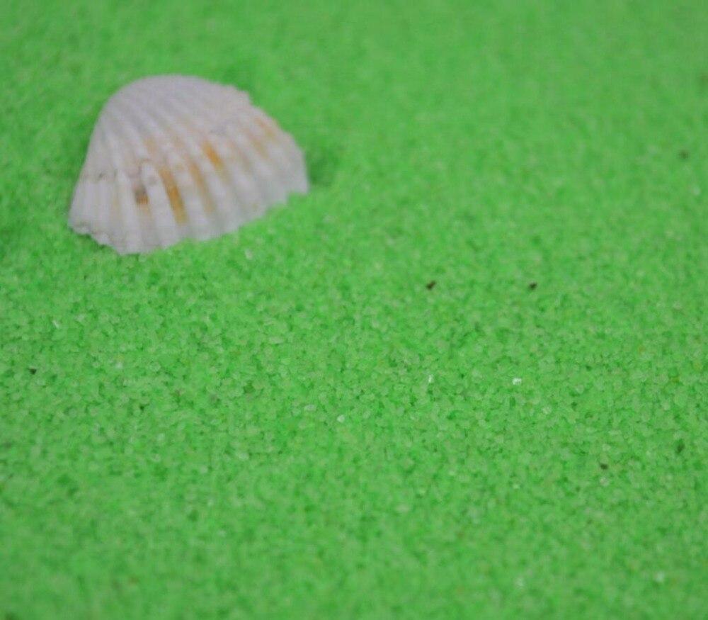 1 кг зеленый речного песка для фантазии миниатюры Фея Садовый Гном Moss Террариум декора ремесла Карликовые деревья DIY украшения