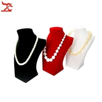 Retail Thick White PU Model Jewelry Holder Mannequin Necklace Stand Decorate Luxury Shop Display 26CM Height