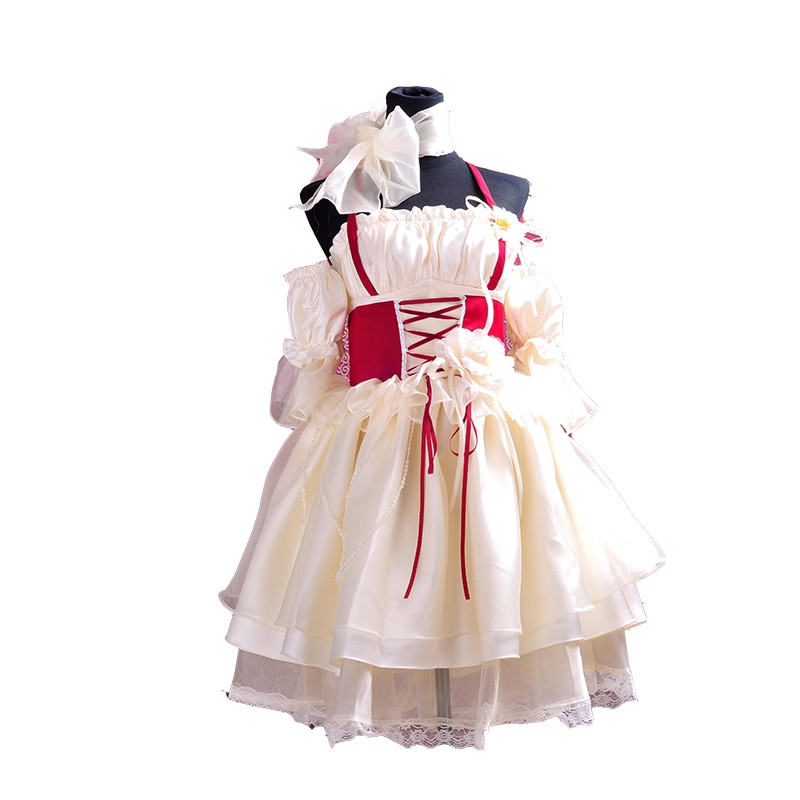 New Gothic Lolita Dress For Women A Word Shoulder Tube Dress With Bowknot Slim Hang Neck Dress
