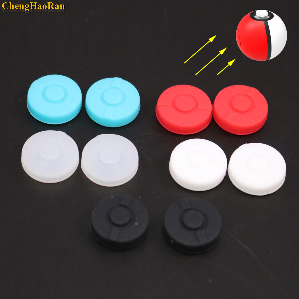 2pcs  Stick Grips Cap Controller Joystick Cover Case For Nintend Switch NS Pokemon Poke ball Plus Pokeball Game Controller-in Gamepads from Consumer Electronics