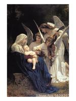 Famous Christ Paintings Song of The Angels Paintings by William Adolphe Bouguereau artworks on Canvas High quality Hand painted
