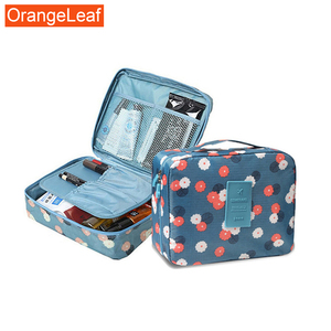 Multifunction Man Women Makeup bag nylon Cosmetic bag beauty Case Make Up Organizer Toiletry bag kits Storage Travel Wash pouch(China)