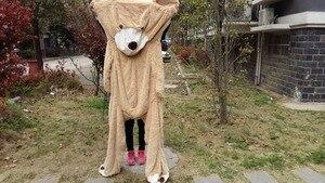 Image 4 - بيع لعبة كبيرة الحجم 200 سنتيمتر الأمريكية العملاقة الدب الجلد ، تيدي بير معطف ، نوعية جيدة سعر المصنع لعب لينة للفتيات