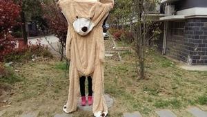 Image 4 - Selling Toy Big Size 200Cm Amerikaanse Giant Bear Huid, Teddybeer Jas, goede Kwaliteit Factary Prijs Zacht Speelgoed Voor Meisjes
