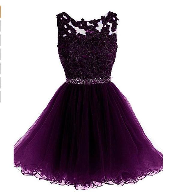 2faf98cb5 En la tienda de Fiesta Vestidos Festoneado Corto vestido Vestido De  Formatura Curto Abendkleider Vestido de