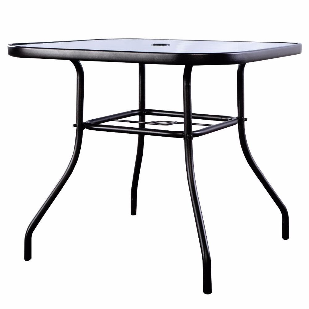 32 1 2 Patio Square Bar Dining Table Gl Deck Outdoor Furniture Garden Pool Hw51791 In Sets From On Aliexpress Alibaba Group