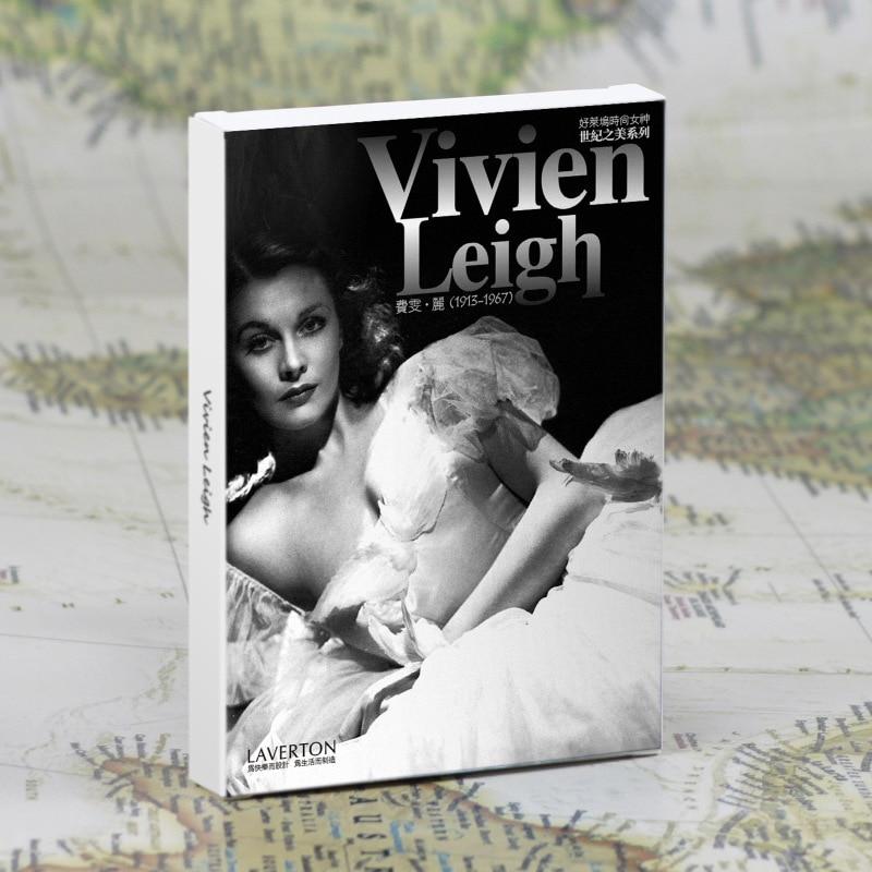 30Sheets/LOT Vivien Leigh Postcard /Greeting Card/Wish Card/Fashion Gift