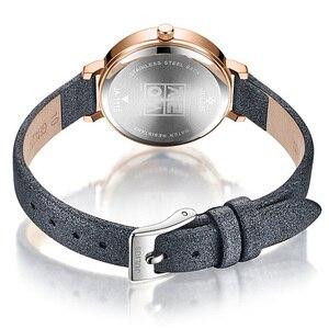 Image 4 - New Julius Womens Watch Japan Quartz Cutting Glass Lady Hours Fashion Clock Bracelet Real Leather Girls Birthday Gift Box