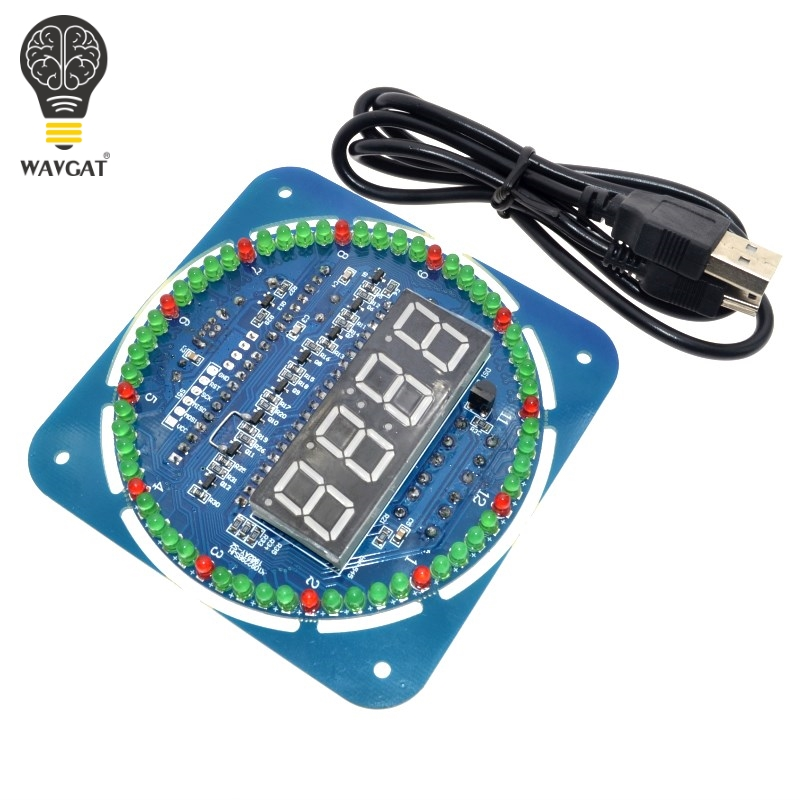 WAVGAT DS1302 Rotating Digital LED Display Module Alarm Electronic Digital Clock LED Temperature Display 5VWAVGAT DS1302 Rotating Digital LED Display Module Alarm Electronic Digital Clock LED Temperature Display 5V