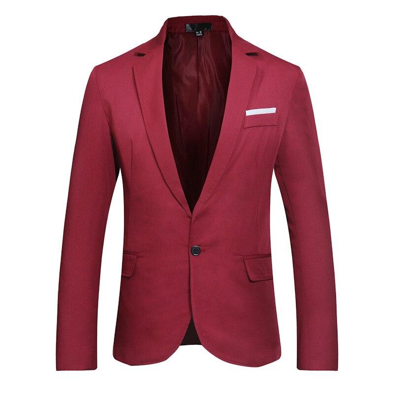 Mode Casual Hommes de Seule Rangée Sur un Bouton Costume de Marque Hommes Vêtements 2018 Blazer Mâle Mode Casual Hommes Costume manteau XW17