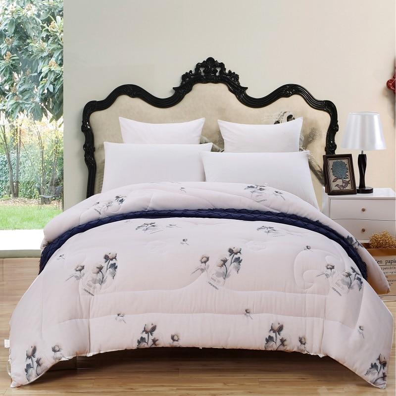 3pcs Full Queen King Size 100 Cotton Comforter Pillows Sets Quilt Duvet Thick Warm Soft Throw