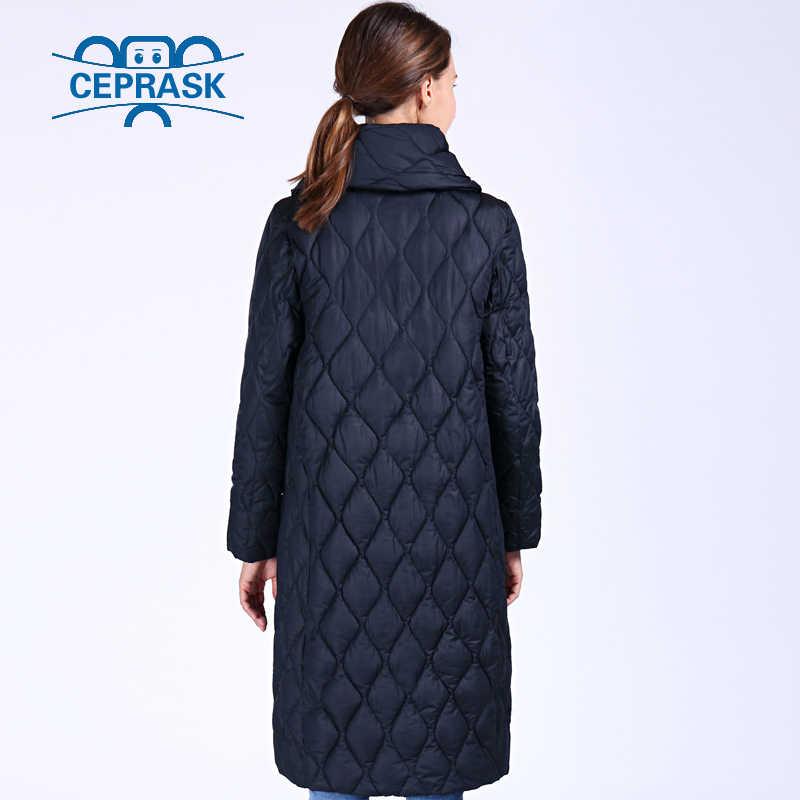 CEPRASK 2019 New High Quality Thick Parkas Plus Size Long Winter Jacket Women Bio fluff Hooded Warm Winter Coats Outerwear
