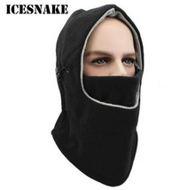 ICESNAKE Thermal Fleece Balaclava Hat Hooded Neck Warmer Winter Sports Face Mask for Men Bike Helmet Beanies Masked cap цена